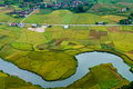 Vietnam landscape rice fields with a river in the valley of tay ethnic minority people bac son lang son viet nam at Stock Image