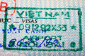 Vietnam passport stamp Stock Photo