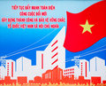 Vietnam poster Royalty Free Stock Images