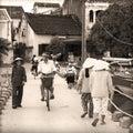 Vietnam street life Hanoi Stock Photo