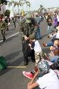 Vietnam Veteran & a Boy with Military Aspirations Royalty Free Stock Photo