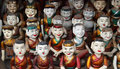 Vietnam water puppets wooden in Stock Image