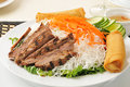 Vietnamese beef bowl Stock Photo