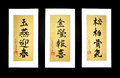 Vietnamese Caligraphy on Rice Paper Royalty Free Stock Photo