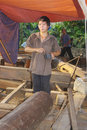 Vietnamese carpenter Stock Photography