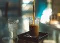 Vietnamese coffee with condense milk Stock Photography