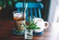 Vietnamese coffee with condense milk Royalty Free Stock Photos