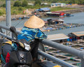 Vietnamese fisher Royalty Free Stock Photo