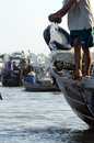 Vietnamese fisherman Royalty Free Stock Images