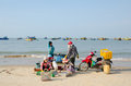 Vietnamese fishers work mui ne vietnam march unidentified women sort out the fish their husbands have caught march mui ne vietnam Stock Photo