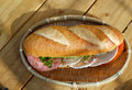 Vietnamese food, banh mi, fast food for breakfast Royalty Free Stock Photo
