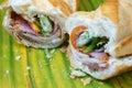 Vietnamese food, banh mi Royalty Free Stock Photo