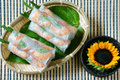 Vietnamese food, goi cuon, salad roll Royalty Free Stock Photo