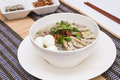 Vietnamese food is the pork noodles and egg Royalty Free Stock Photos