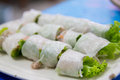Vietnamese pork and vegetables roll Royalty Free Stock Photo