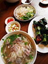 Vietnamese street food dishes Royalty Free Stock Images