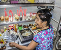 Vietnamese street food seller Royalty Free Stock Photo
