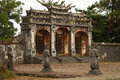 Vietnamese temple gate ancient in hue vietnam Royalty Free Stock Photo