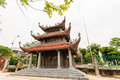 Vietnamese temple at hanoi vietnam Royalty Free Stock Photo