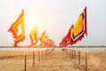 Vietnamese traditional flag on fastival Royalty Free Stock Photography