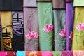 Vietnamesiska scarves Arkivfoton