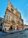 Vieux Lyon and the cathedral Saint Jean, old town of Lyon, France Royalty Free Stock Photo