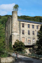 Vieux moulin de textile dans Yorkshire Photo stock