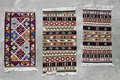 Vieux tapis roumains traditionnels de laine Photo libre de droits