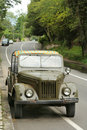 Vieux véhicule russe Images libres de droits