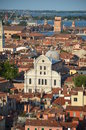 View above church chiesa di san zaccaria venice italy church dedicated to father john baptist whose body supposedly contains Royalty Free Stock Image