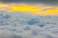 View Above the Clouds Royalty Free Stock Photo