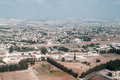 View above of cypriot settlement near big city in cyprus island Royalty Free Stock Photography