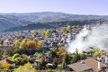View from above of the revival city of  Koprivshtitza Royalty Free Stock Photo