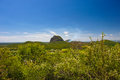 A view across the glass house mountains national park near brisbane australia Stock Photography
