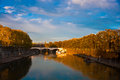 View across river tiber to st peters Stock Photos