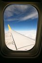 VIEW FROM THE AEROPLANE'S WINDOW Royalty Free Stock Photo