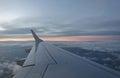 View through aeroplane window Royalty Free Stock Photo