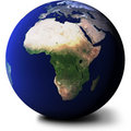 View of Africa on Globe Stock Photo