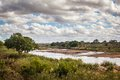 View of african savannah sabie sand river kruger national park south africa Stock Photo