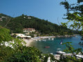 View of Agni Beach, Corfu Stock Photos