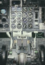 View of aircraft thrust lever vintage effect Royalty Free Stock Photography