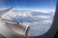 View from an airliner window Royalty Free Stock Photo