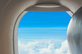 View from airplane window Royalty Free Stock Photo