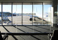 View from Airport Terminal Royalty Free Stock Photo
