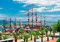 View of Alanya Cruise Port Royalty Free Stock Photo