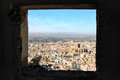 View from the Alcazaba, Alhambra, Granada, Spain Stock Photography