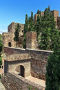 View of alcazaba of malaga andalusia spain Royalty Free Stock Image