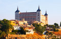 View of alcazar of toledo in sunny time castile–la mancha spain Royalty Free Stock Images