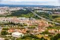 View of Almada city near Lisbon Royalty Free Stock Photo