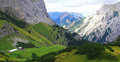 View on an alp (gramai) in the karwendel mountains of the european alps Royalty Free Stock Photo